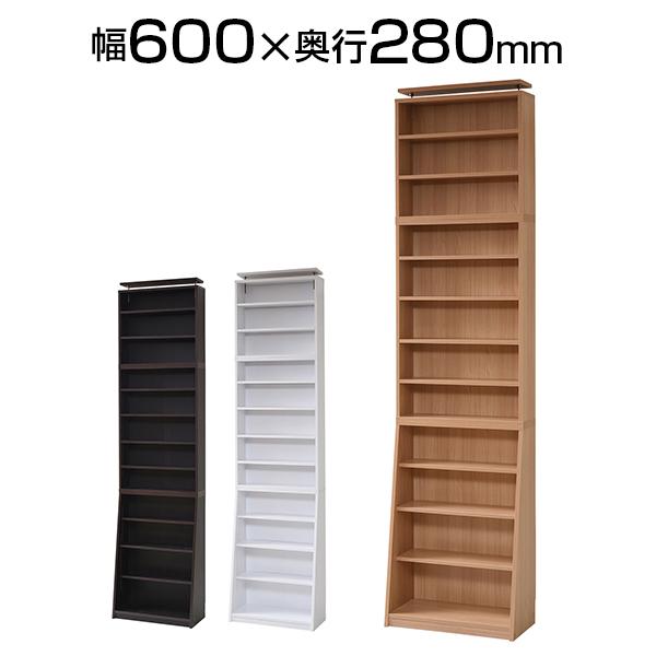 10mmピッチ大収納ラック 上置きセット 幅600×奥行280×高さ2375~2465mm 木製収納棚
