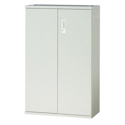 JL Storage 両開保管庫 下置用 鍵付き 幅700×奥行400×高さ1100mm 【ホワイト】/PL-JL-A110A-WH