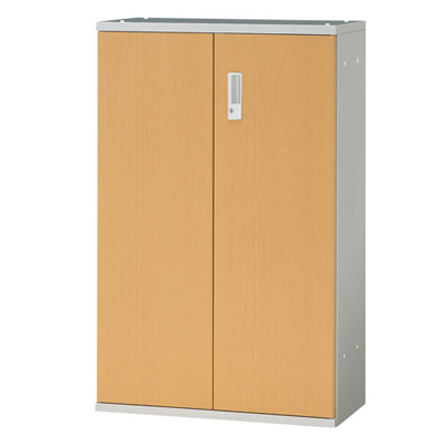 JL Storage 両開保管庫 下置用 鍵付き 幅700×奥行400×高さ1100mm 【ホワイトメープル】/PL-JL-A110A-WM