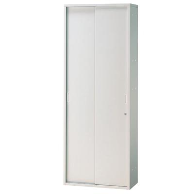 JL Storage 引違保管庫 下置用 鍵付き 幅700×奥行400×高さ1850mm 【ホワイト】/PL-JL-A185S-WH