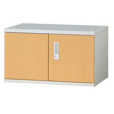 JL Storage 両開保管庫 上置用 鍵付き 幅700×奥行400×高さ400mm 【ホワイトメープル】/PL-JL-A40A-WM
