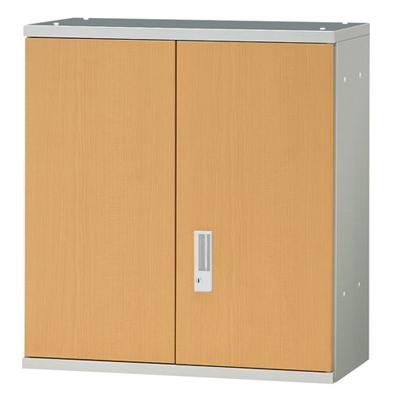 JL Storage 両開保管庫 上置用 鍵付き 幅700×奥行400×高さ750mm 【ホワイトメープル】/PL-JL-A75A-WM