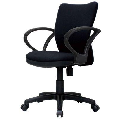 オフィスチェア/肘掛け付き/K-922+92AR 【ブラック・ブルー】 事務椅子 オフィスチェアー 学習椅子 学習チェア 勉強椅子 パソコンチェアー デスクチェアー