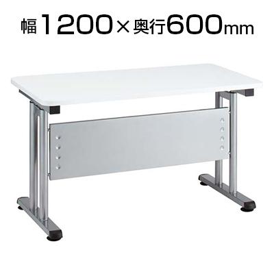 昇降テーブル兼デスク ハンドル回転式 オフィス健康経営 幅1200×奥行600×高さ700~1000mm