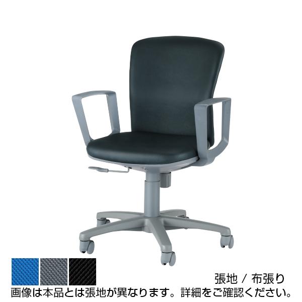 オフィスチェアー No.360 布張り ローバック サークル肘 モールドウレタン LI-No361F