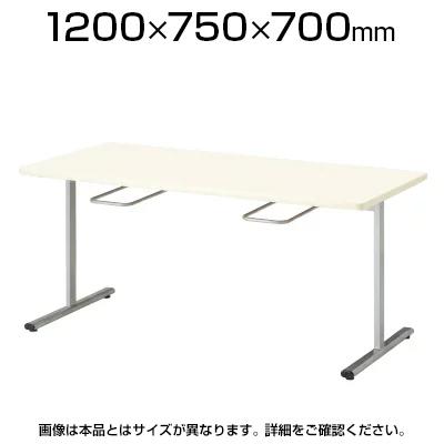 食堂ダイニングテーブル/イス掛け/4人用/T字脚/幅1200×奥行750mm/ORS-1275