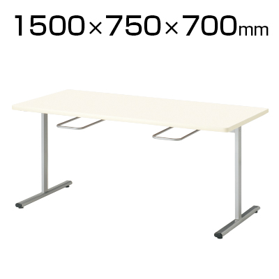 食堂ダイニングテーブル/イス掛け/4人用/T字脚/幅1500×奥行750mm/ORS-1575