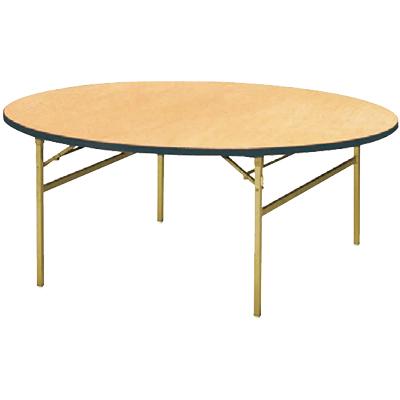 パーティ レセプション用 折りたたみテーブル/丸型/シナベニアタイプ スチール脚/直径1800mm/RT-1800R