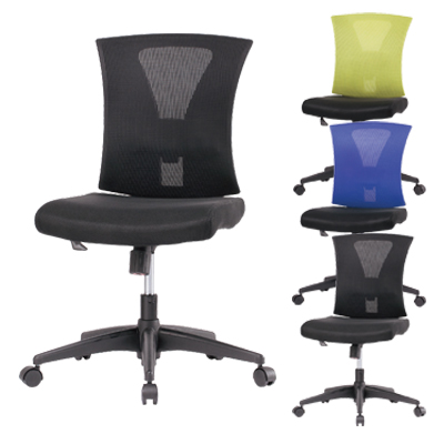 オフィスチェア 事務椅子 TN-807 肘なし コンパクト設計 幅480×奥行540×高さ900~990mm