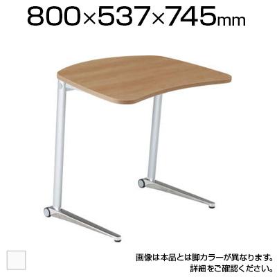 MS85FB | シフト テーブル 幅800mm ホワイト脚 傾斜天板(オカムラ)