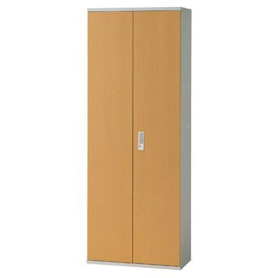 JL Storage 両開保管庫 下置用 鍵付き 幅700×奥行400×高さ1850mm 【ホワイトメープル】/PL-JL-A185A-WM