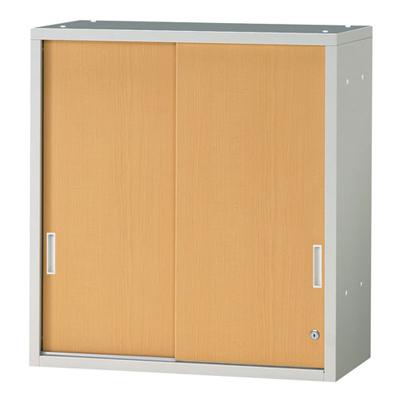 JL Storage 引違保管庫 上置用 鍵付き 幅700×奥行400×高さ750mm 【ホワイトメープル】/PL-JL-A75S-WM