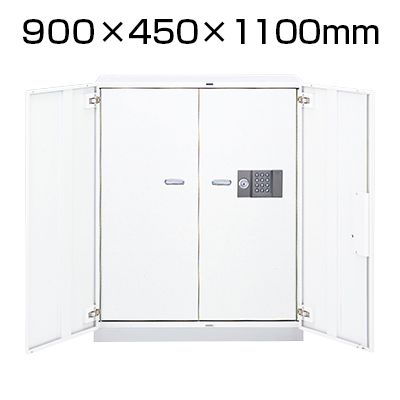 L6 耐火庫用収納庫 L6-105BF W4 ホワイト 幅900×奥行450×高さ1100mm
