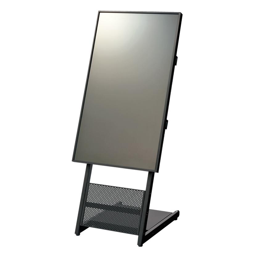 PLUS(プラス) いますぐサイネージ43型ディスプレイ スタンドセット 幅559×奥行608×高さ1348mm 電子案内板 メディアを挿すだけの簡単再生