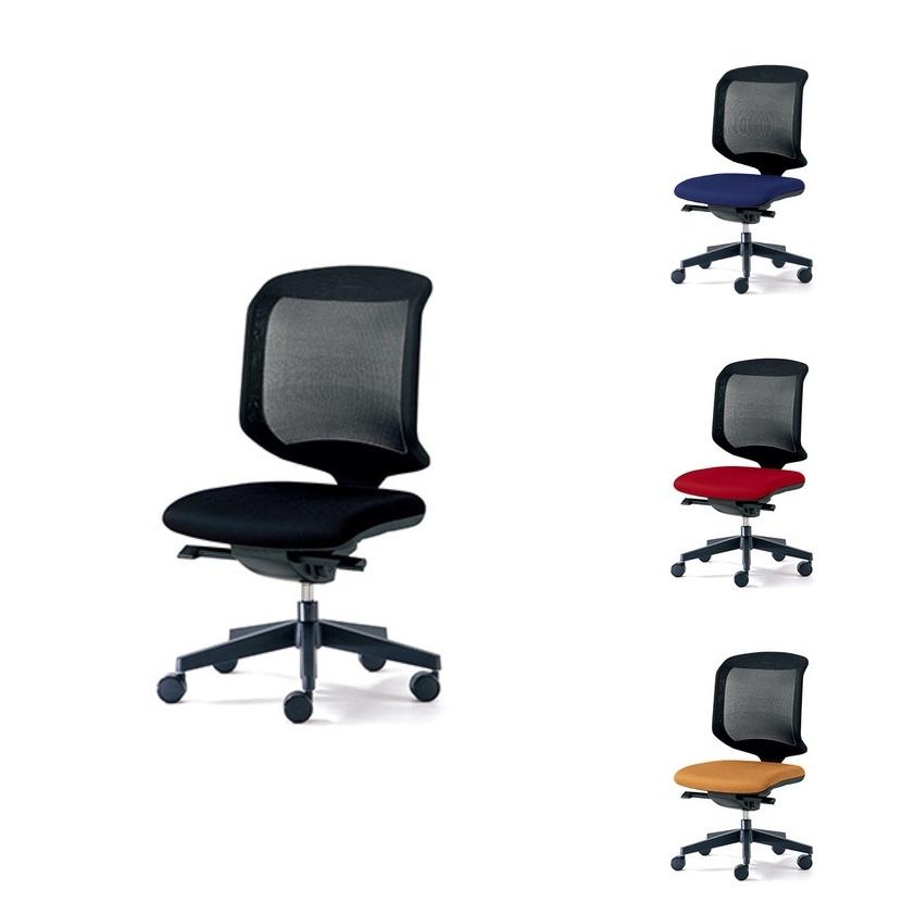 プラス PLUS ジロフレックス 434シリーズ 肘なし 幅610×奥行581mm 434-3019RSオフィスチェア メッシュ デスクチェア chair 椅子 ワークチェア 事務イス テレワーク チェア リモートワーク 在宅勤務 在宅ワーク SOHO