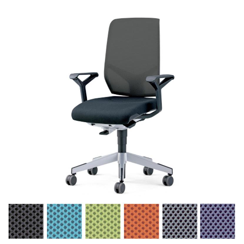 プラス PLUS ジロフレックス 68 シリーズ 布張り ヘッドレストなし肘付 幅670×奥行625×高さ1210mm 68-7519RMSオフィスチェア メッシュ デスクチェア chair 椅子 ワークチェア 事務イス テレワーク チェア リモートワーク 在宅勤務 在宅ワーク SOHO