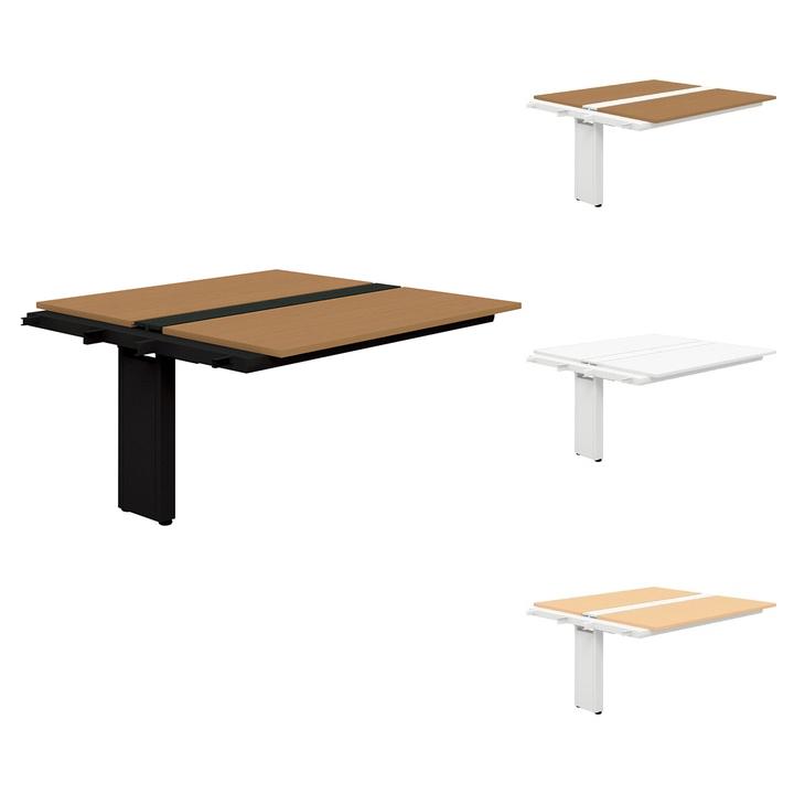【追加/増設用】PLUS Genelaシリーズ 両面ジョイントセット デスク/テーブル 幅1400×奥行1425×高さ720mm GE-1414WJ