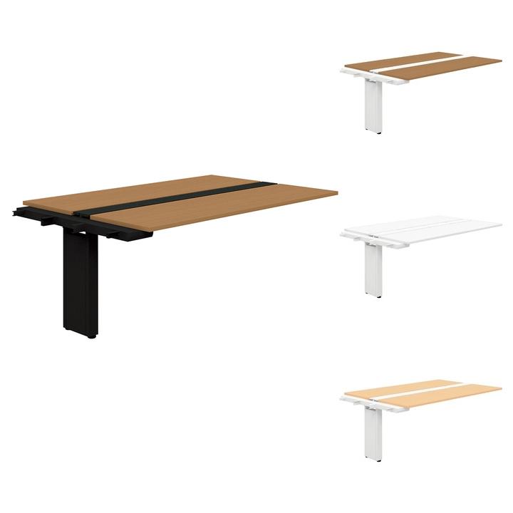 【追加/増設用】PLUS Genelaシリーズ 両面ジョイントセット デスク/テーブル 幅1800×奥行1225×高さ720mm GE-1812WJ