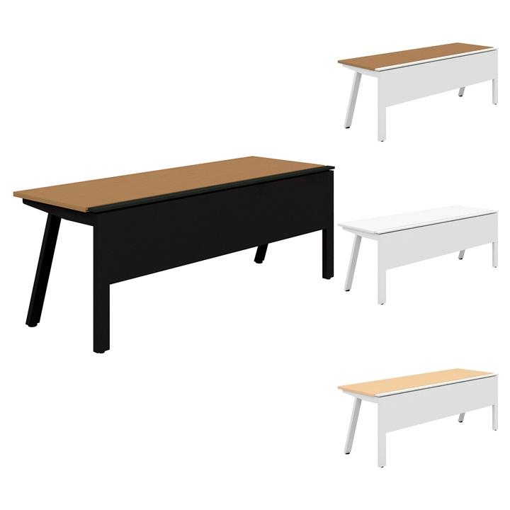 PLUS Genelaシリーズ 片面ベースセット デスク/テーブル 幅2000×奥行700×高さ720mm GE-207KB
