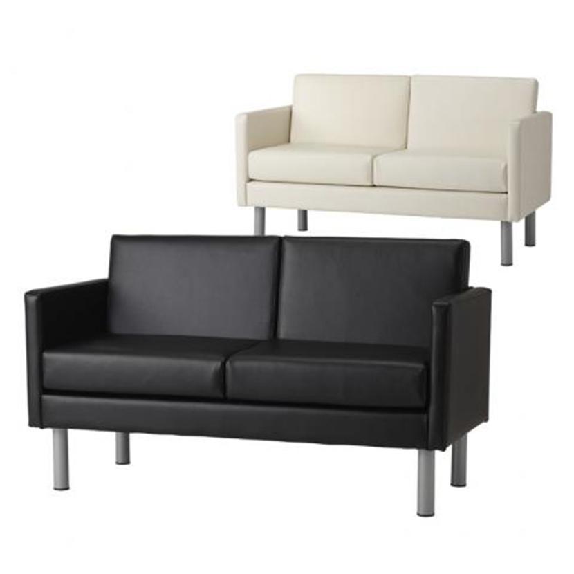 応接ソファー 2人掛け 幅1300×奥行620×高さ750mm 合成皮革 応接ソファ ソファー ソファ 2人掛け 2人用 コンパクト 省スペース 椅子 イス 応接イス 応接椅子 打ち合わせ 商談 応接
