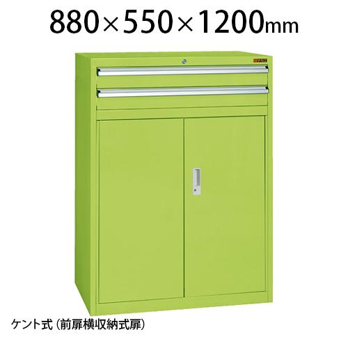 サカエ 重量キャビネットSKV8タイプ 業務用棚 SKV8-M121A 幅880×奥行550×高さ1200mm