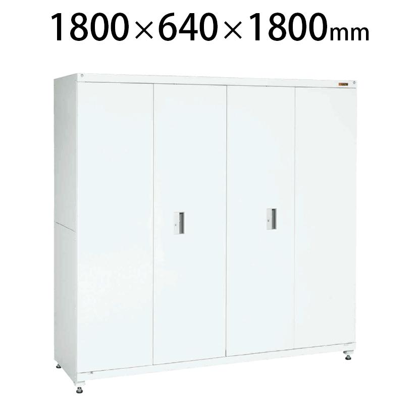 サカエ PNH-18W | 保管システム収納庫 大型保管庫 折リ戸タイプ 均等耐荷重250kg/段 保管庫 幅1800×奥行640×高さ1800mm