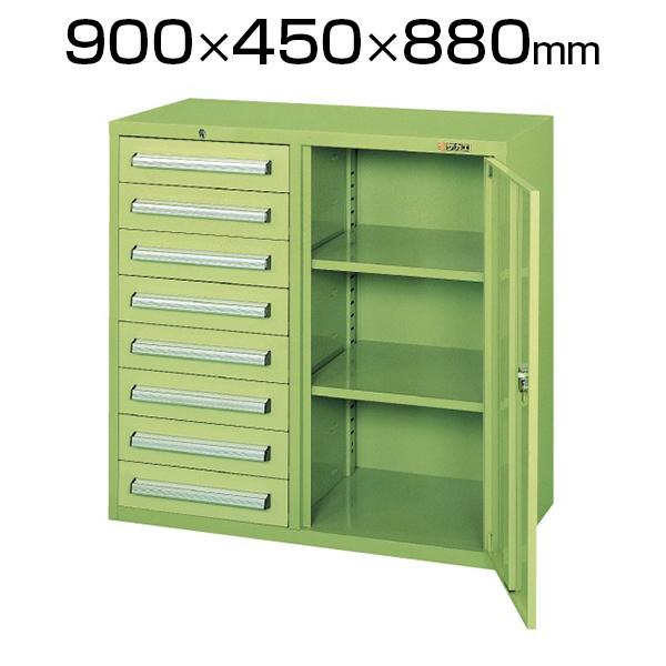 サカエ 工具管理ユニット KU-CB3 業務用棚 保管庫 幅900×奥行450×高さ880mm