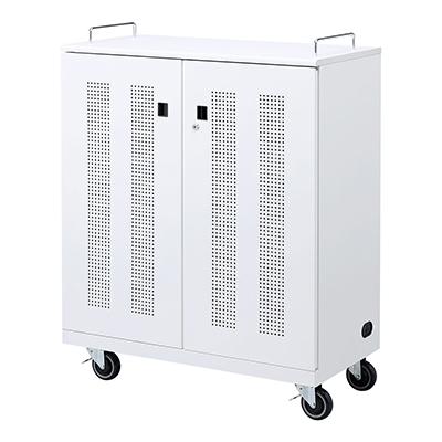 サンワサプライ ノートパソコン収納キャビネット W900×D450×H1164mm