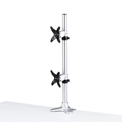 サンワサプライ 水平垂直液晶モニターアーム 机用・水平垂直・上下2面 SS-CR-LA1009N