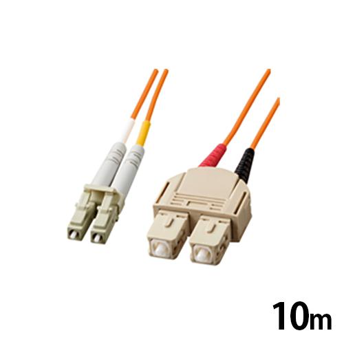 サンワサプライ MT-RJパッチケーブル マルチモード 1m 光ファイバーコア径 50ミクロン MT-RJコネクタ - MT-RJコネクタ