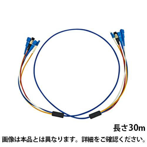 サンワサプライ ロバスト光ファイバーケーブル 30m 光ファイバーコア径 9.2ミクロン ブルー SCコネクタ - SCコネクタ