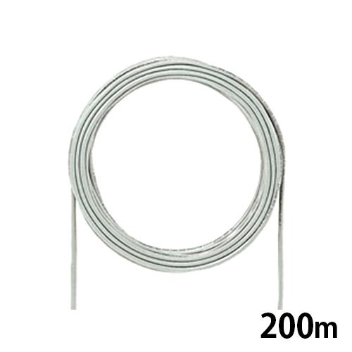 サンワサプライ カテゴリ5eUTP単線ケーブルのみ 200m ライトグレー