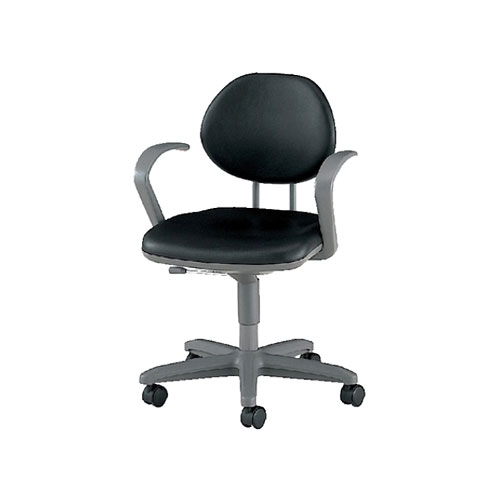 導電チェアー/肘付/TE-EL6AL 【ブラック・ダークブラウン】 事務椅子 オフィスチェアー 学習椅子 勉強椅子 パソコンチェアー デスクチェアー