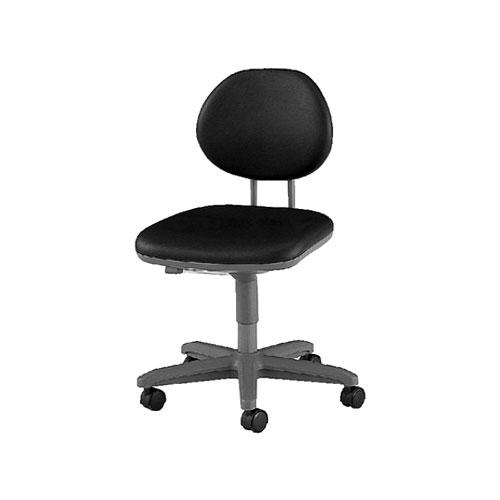 導電チェアー/肘無/TE-EL6L 【ブラック・ダークブラウン】 事務椅子 オフィスチェアー 学習椅子 勉強椅子 パソコンチェアー デスクチェアー