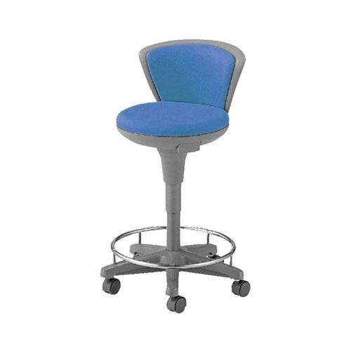環境ソフトスツール/ハイタイプ・背もたれ、リング付/TSS-16RN 【ブルー・グリーン・ローズ・Dグレー】 椅子 会議用椅子 会議椅子 イス ミーティングチェア 業務用 仕事用 オフィス
