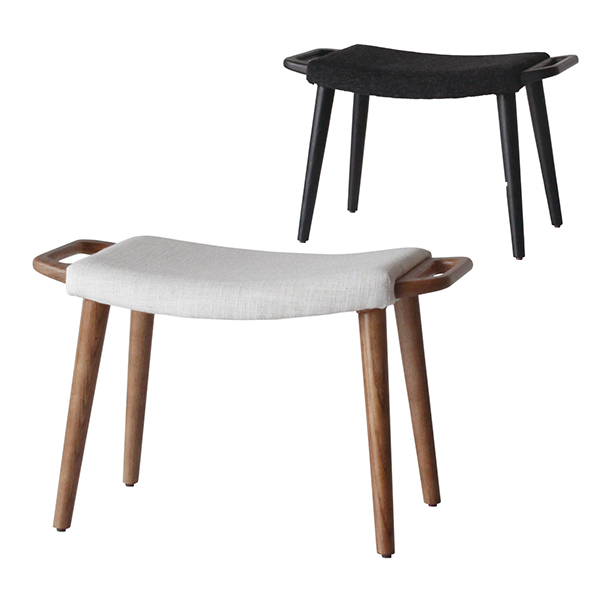 Comfy(コンフィー) Natural Line/Black Line Cider Loungestool (シードル ラウンジスツール) 木製イス タモ材 幅650×奥行350×高さ390mm SK-CiderS