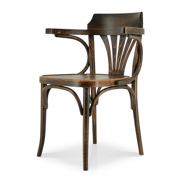 Comfy(コンフィー) Garage Line No.25 Chair (NO.25 チェア-TON) 木製イス 幅590×奥行530×高さ790mm 座面高さ440mm 肘高さ695mm SK-No25