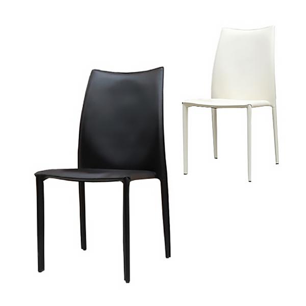 【6月下旬入荷予定】Comfy(コンフィー) Black Line ParkerII Chair (パーカーII チェア) スチールレザーイス 幅460×奥行600×高さ870mm 座面高さ440mm スタッキング4脚まで