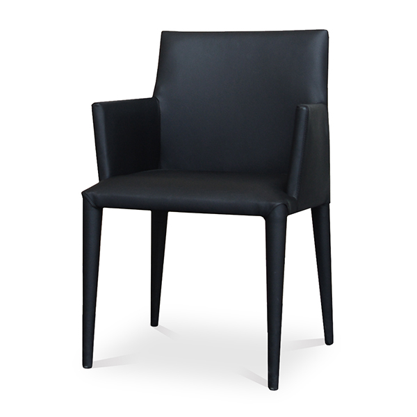 【8月上旬入荷予定】Comfy(コンフィー) Black Line PenII Chair (ペンII チェア) スチールレザーイス 肘付き 幅540×奥行540×高さ815mm 座面高さ450mm SK-Pen-A