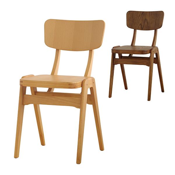 Comfy(コンフィー) Garage Line Plamo Chair (プラモ チェア) 木製イス 板座 幅400×奥行460×高さ775mm 座面高さ450mm スタッキング2脚まで SK-Plamo
