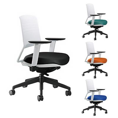 KOPLUS コプラス Switch(スウィッチ) オフィスチェア アクティブバック 幅660×奥行660×高さ903-1013×座面高410-520mm 事務椅子