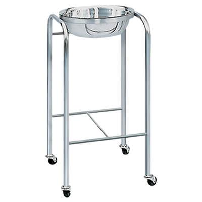 【完成品】医療用 衛生的に使用できる 1ヶ用ステンレス製手洗台・深鉢付き キャスター付き/SS-601 病院用 歯医者用 消毒台 ワゴン 診察室用
