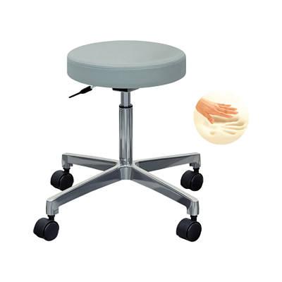 丸イス 回転椅子 スツール 低反発チェアー(キャスター付き) ガス昇降機能/TB-69-01 丸椅子 病院用 診察用 業務用 家庭用 仕事用 チェアー