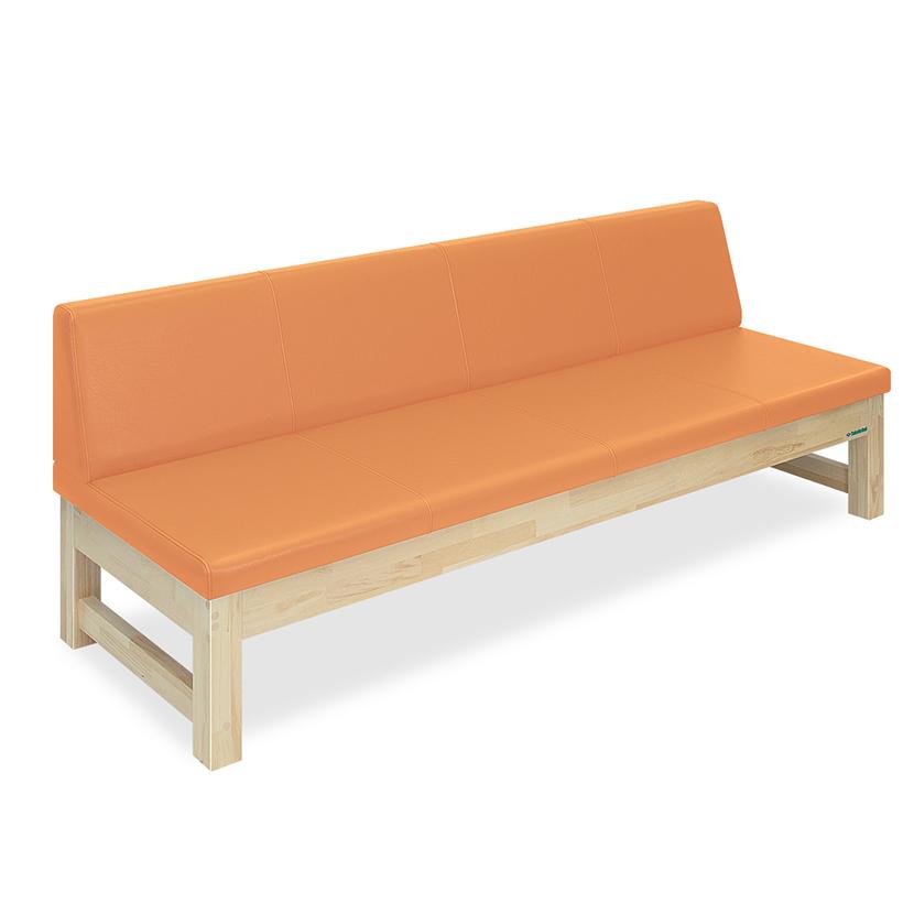 高田ベッド 長いす 待合い用ソファー 木製背付きソファー TB-791-02 サイズ選択可能 モクソファー(02)