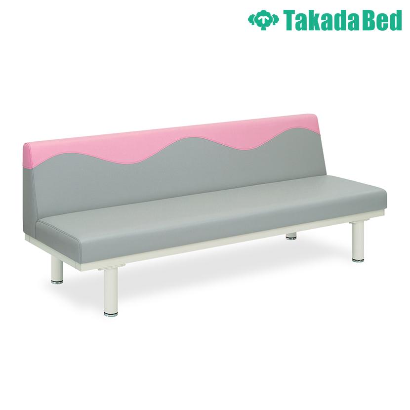 高田ベッド ソファー・チェア TB-1254-01 ウェーブソファー(01) 背もたれウェーブ縫製 明るい院内 衛生的 サイズ/カラー(背もたれ上部/座面 18色)選択可能