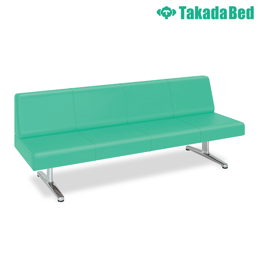 高田ベッド ソファー・チェア TB-816-02 エバー(02) 待合室 衛生的 鏡面仕上げアルミベース採用 シームライン縫製 サイズ/カラー(18色)選択可能