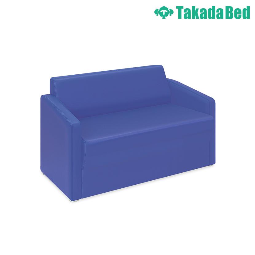 高田ベッド ソファー・チェア TB-821-01 ロビーMD(01) 傾斜背もたれで安定感抜群 座部スリット加工 両肘掛け仕様 サイズ/カラー(18色)選択可能