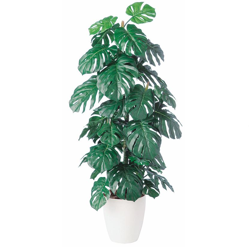 観葉植物 人工 樹木 モンステラ 高さ1400mm Mサイズ 鉢:RP-265
