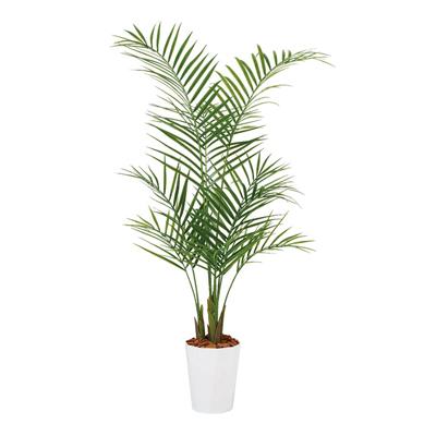 観葉植物 人工 樹木 アレカヤシPE 高さ1300mm Sサイズ 鉢:クオーツ180