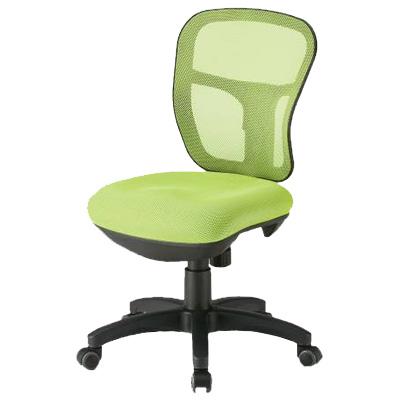 メッシュチェア/肘無/CF-2M (オフィスチェア 事務椅子 いす イス) 【ブラック・ブルー・イエローグリーン】